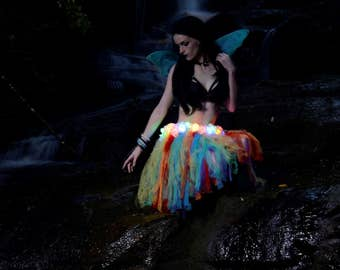 Soft Tulle Rainbow Fairy Skirt