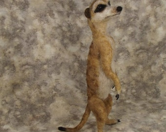 Needle felting PDF turorial, Needle felted Animal, Needle felted Meerkat, PDF Meerkat tutorial