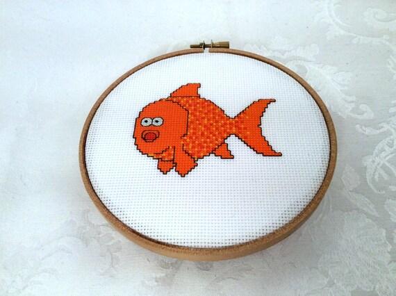 Knitting Room Fond Du Lac : Goldfish counted cross stitch pattern pet pdf