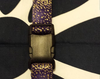 Fabric Collar (Purple/Gold)