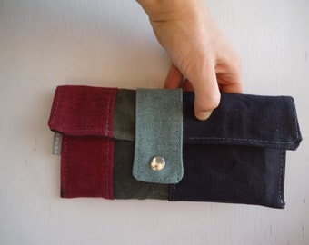 Waxed Canvas Purse Clutch Bag