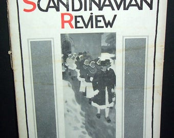 1915 American-Scandinavian Review magazine, with Lusitania ad