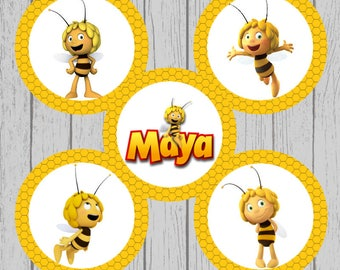 Maya the Bee Bottle Cap Images