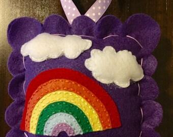 Rainbow Tooth Fairy Pillow. Girl Tooth Fairy Pillow. Tooth Fairy Pillow.  Tooth Fairy Pillow