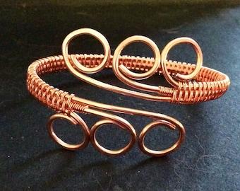 Copper 'arthritis' bracelet, bare copper wirework bracelet, fashionable 'arthritis' bracelet