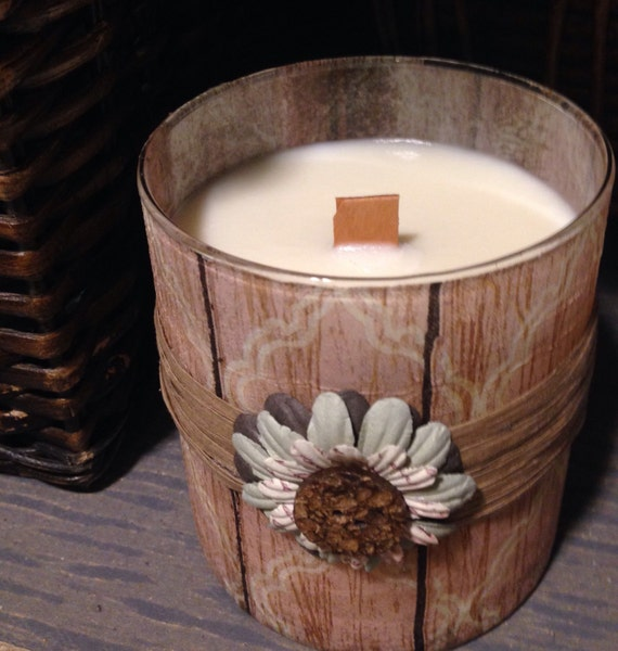 Romance Valentine Soy Candle with Wood Wick