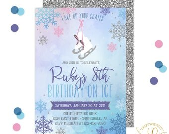 Ice Skating Invitation | Winter Birthday Party | Skating Invitation | Winter Party Invitation | Ice Skate Invitation | Ice Skating Party