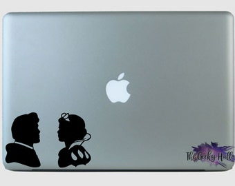 Snow White and Prince Charming - Disney - Inspired - Valentine's Day - Couple - Laptop - Macbook - Car Window - Vinyl - Decal - Sticker