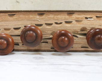 vintage set of 4 round turned wood furniture pullsknobs vintage round wood drawer