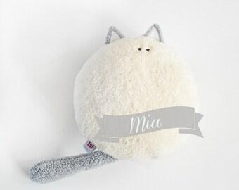 Mia the Cat, ecru softie, plushie