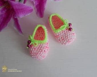 Pantoufles enfants Slippers Girl Crocheted Baby Slippers kids slippers knitted socks