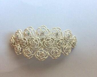 Hand made hair clip barrette with diamanté