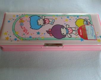 Vintage showa era Sun Star Ichigo Milk pencil case box, Strawberry Milk kawaii japan pencil box no sanrio kutsuwa