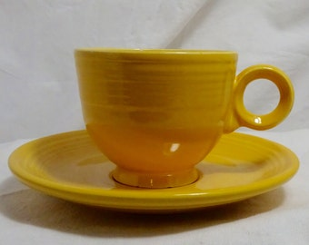 Homer Laughlin Vintage Fiesta Ware in Original Yellow - Great Condition - Vintage 1950's/1960's