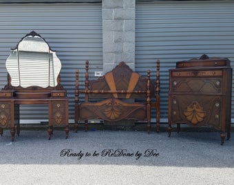 Bedroom Suite, Bedroom Set, Bed, Chest of Drawers, Customizable - VANITY SOLD