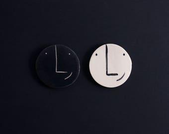 Ceramic Magnet - Smiley