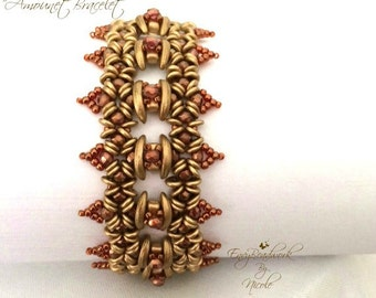 "Beading pattern ""Amounet"" Bracelet in English   D.I.Y"