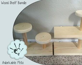 Wood Ledge - Wood Shelf - Animal Shelf - Rat Shelf - Rat Toy - Chinchilla Ledge - Chinchilla Chew - Chinchilla Toy - Cage Accessory