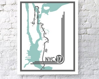 2017 NYC Marathon Digital Print