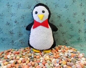 Felt Penguin Mary Poppins Softie Plushie by ThreeMiceDesign