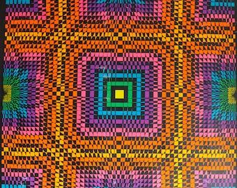 "Original Vintage Psychedelic Black Light Poster ""Soliloquy"" by Designer Nancy Parker Copyright 1968 WesPac Visual Comm. Psychedelic Art"