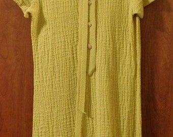 Vintage Ladies Yellow Knit Dress