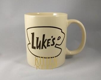 Ready To Ship | Luke's Diner Logo Coffee Mug | Gilmore Girls | Lorelai Gilmore | Rory Gilmore