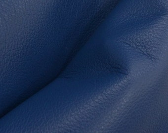 "Regal Royal Blue ""Signature""  Leather Cow Hide 12"" x 12"" Pre-Cut 2 1/2-3 oz flat grain DE-52171 (Sec. 8,Shelf 3,D)"