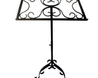 Vintage Free-Standing Iron Sheet Music Stand || Wedding Podium || Guest Book Stand || CUSTOM COLOR AVAILABLE