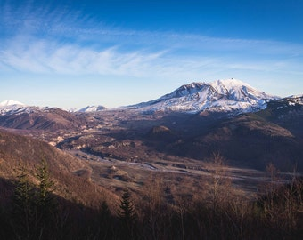 Mt St Helens Photograph, Mountain Photo, Washington Landscape Photography, Pacific Northwest Photo, 8x10 Wall Decor, Fine Art Print