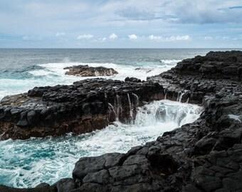 Kauai Photograph,Hanalei Bay Photography, Hawaii, Queens Bath, Wall Decor, Hawaii Photo, Vacation, Paradise, Travel, Fine Art Print, Pacific