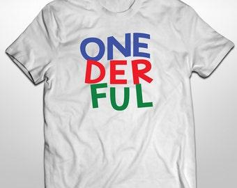 First birthday, Onderful Iron On, Birthday Shirt, Onederful Iron On Transfer, One, Digital Download, Iron On, Digital Image, Custom Shirt