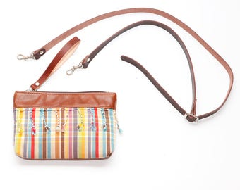 SALE - Brown Leather Waist Bag - Convertible Leather Shoulder Bag - Brown Leather Bumbag - Leather Cross Body Bag - Gift for Her