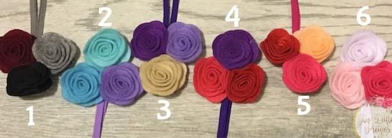 Triple multicolored felt flower headband | baby girl | handmade