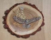 Owl Wood Carving Rustic W...
