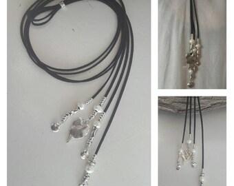 Boho, Choker, Lariat necklace, feather necklace, summer trend, gipsy choker, vegan