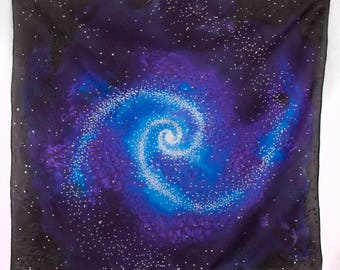 Spiral Galaxy Tarot or Altar cloth