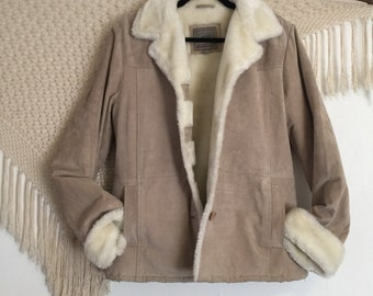 Vintage Pacific Trail womens size medium bohemian cozy jacket, winter coat,  hippie coat, penny lane jacket, folkie jacket, boho jacket,