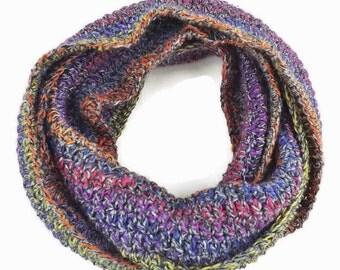 infinity scarf, crochet scarf, loop scarf, knit cowl, winter scarf, wool wrap. womens infinity scarf, wrap scarf,  boho hipster scarf, mens