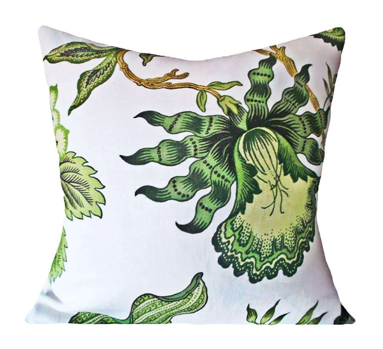 Schumacher Hothouse Flowers Verdance Decorative Pillow Cover