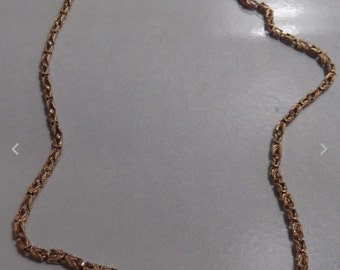 Vintage 14K yellow gold rope chain 18 onch necklace