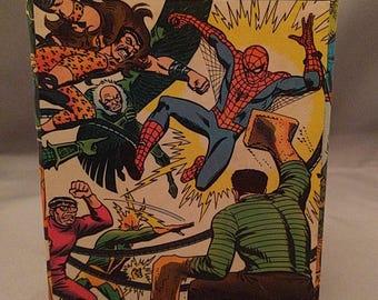 Spider-Man superhero comic book decoupage tissue box cover