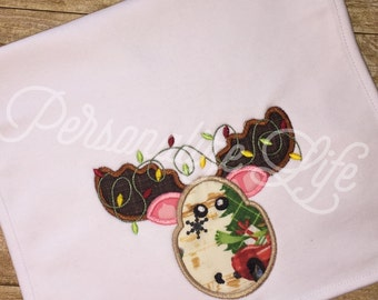 Christmas Reindeer Burp Cloth/Santa's Reindeer Burp Cloth/Burp Cloth/Reindeer with lights Burp Cloth/Christmas