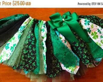 St. Patrick's Day Shamrock Scrap Fabric Tutu