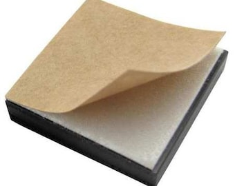 Pack of 50 Magnetic Squares, Adhesive backed, Lifts uo to 1/2 lb. 1x1 inch