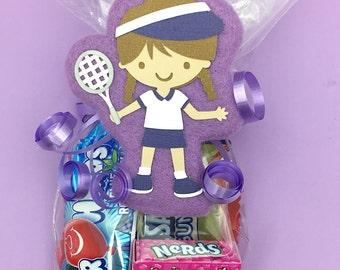 Tennis Party - Tennis Coach Gift - Tennis Baby - Tennis Gift - Tennis Party Favors - Tennis Girl Favor Bag Tag