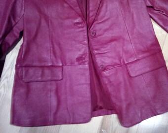 Genuine Leather Blazer- Vintage