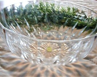 Cristal DArques Crystal Salad Serving Bowl, Vintage Bretagne Pattern, Antique Crystal Bowl, Vintage Crystal,  Formal Buffet, Elegant Dining