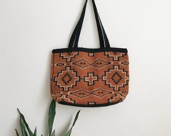 Vintage embroidered Navajo pattern bag