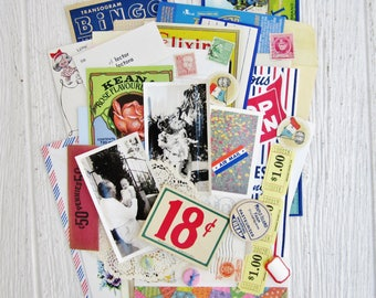 Vintage Paper Ephemera Pack of 75+ Pieces for Planners, Mixed Media, Altered Art or Scrapbooking